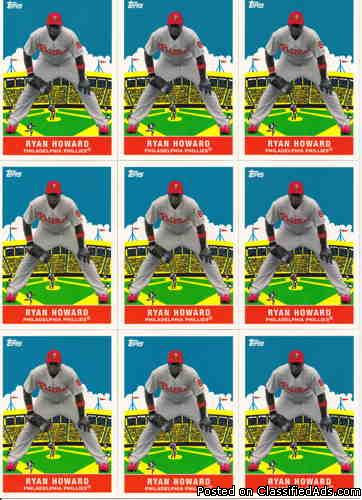 Ryan Howard (10) 2007 Topps Flashback Fridays FF1