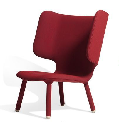 Red Designer Office Lounge Chair
