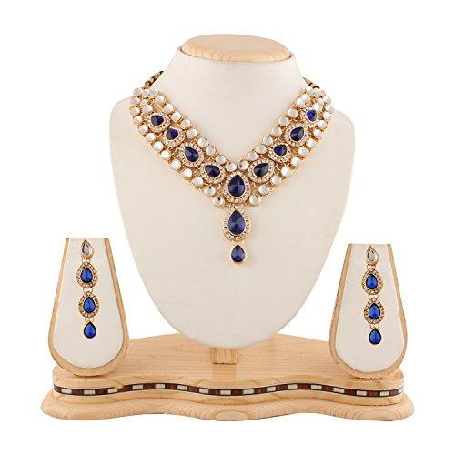 Bollywood Designer Ethinic Indian Bridal Cz Stone Polki Kundan Necklace Set with