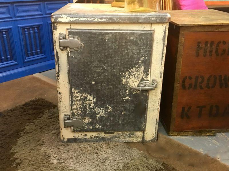 Zinc Antique Ice Box