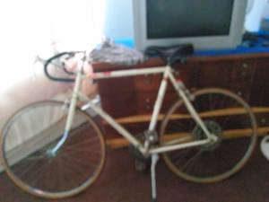 1970s azuki ten speed road bike (Niles)