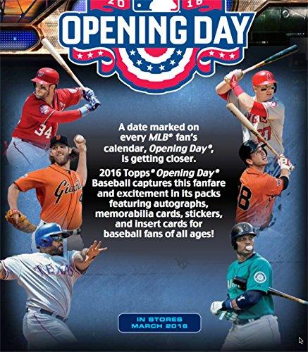 2016 Topps Opening Day Baseball Box 36 Packs 7 Cards Per Pack 1 Insert Per Pack
