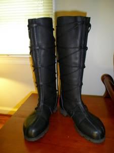 Black RenFest Genuine Leather Son of Sandlar lace boots (Smyrna, GA.)