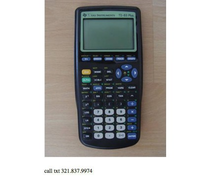 Graphing Calculator TI83 Plus, TI84 and Silver Edition available West Orlando fr