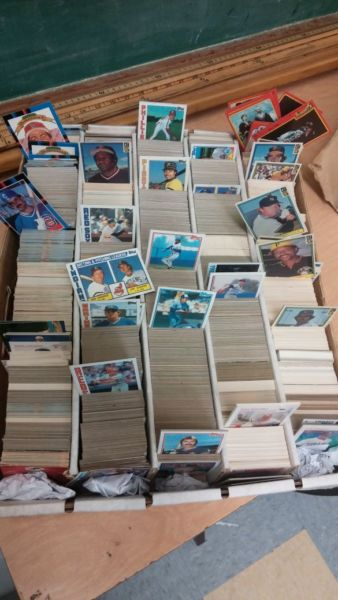 Baseball cards from 80's and 90's