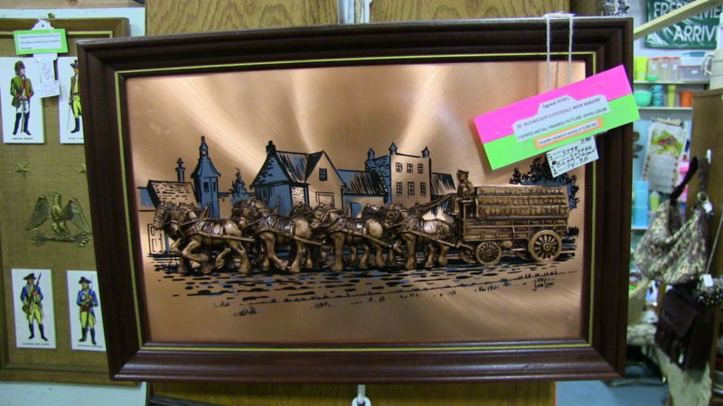 3D Budweiser Copper Clydesdale Beer Wagon