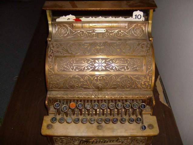 1903 NCR ornate brass cash register