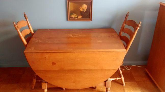 Vintage solid maple dining room set