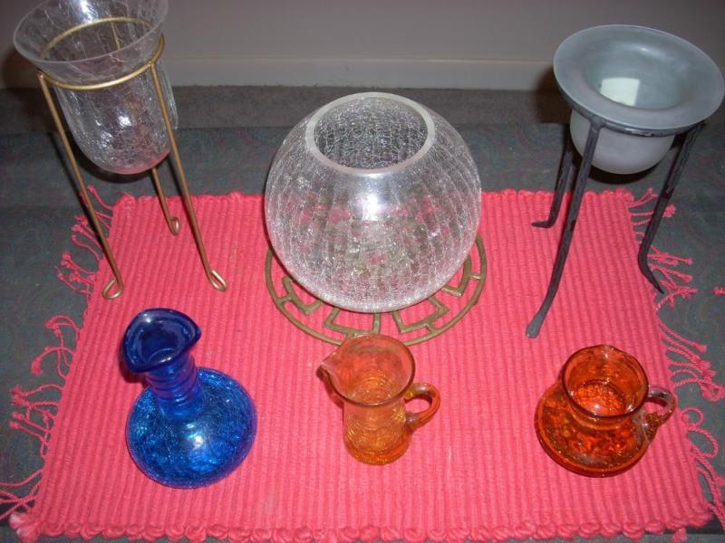 Bored collector! Selling Collection..Crackle Glass, and more, see ad