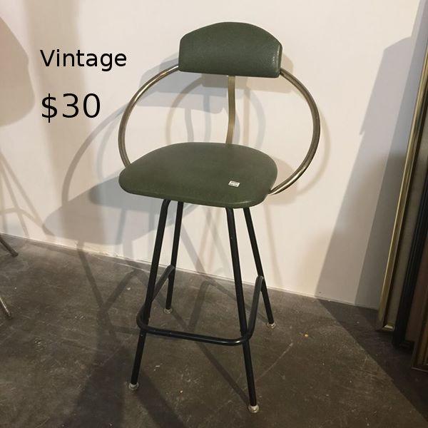 Vinage Green Barstool