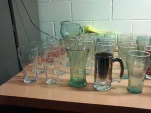 coke glasses and bottles (beckley)