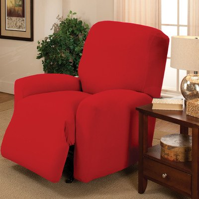 Stretch Jersey Large Recliner Slipcover Color: Red