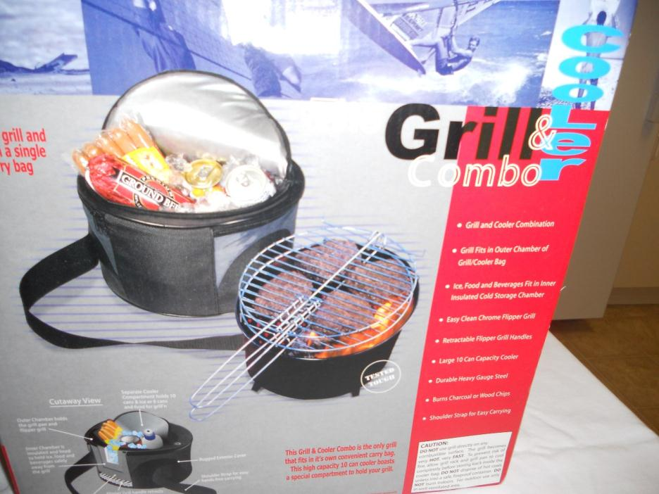 Portable 2 in 1 Grill and Cooler Bag