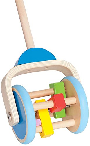 Hape - Lawn Mower Wooden Push and Pull Toy