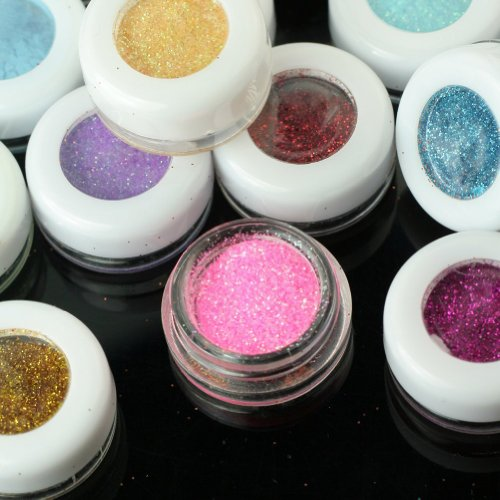 Teensery 30 Colors Glitter Mineral Powder Pigment Makeup Cosmetic Eyeshadow Eye