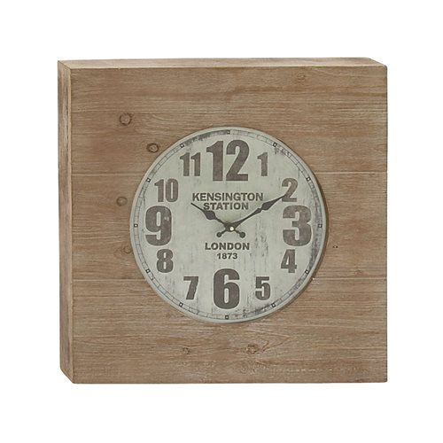 Chic Wood Wall Clock
