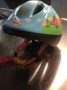 little girl's bike helmet (Deep Ellum)