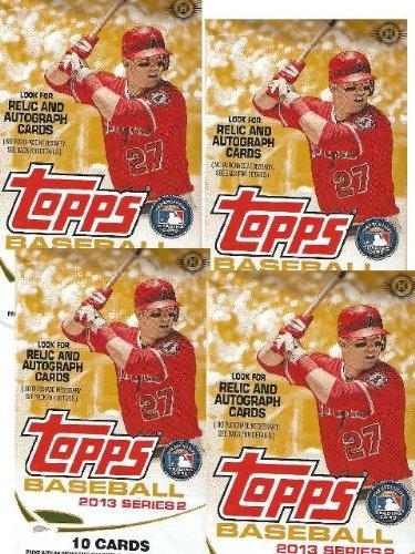 4 (Four) Packs - 2013 Topps Series 2 Baseball Cards Hobby Packs (10 Cards per