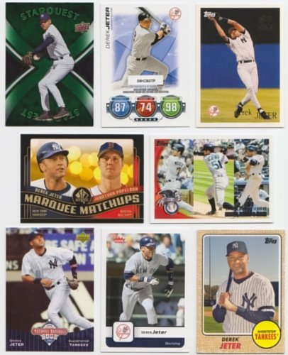Derek Jeter Baseball Cards / 100 Card Lot - With 1993 Rookie Card