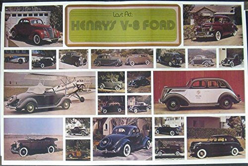 1932 1934 1935 1936 1937 1939 1941 Ford V8 Poster