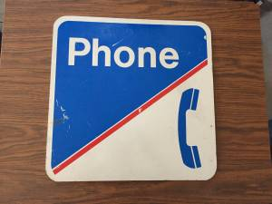 Old Phone Booth Sign