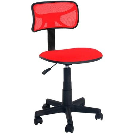 Urban Shop Swivel Mesh Chair, Office/Home Desk Chair, Red