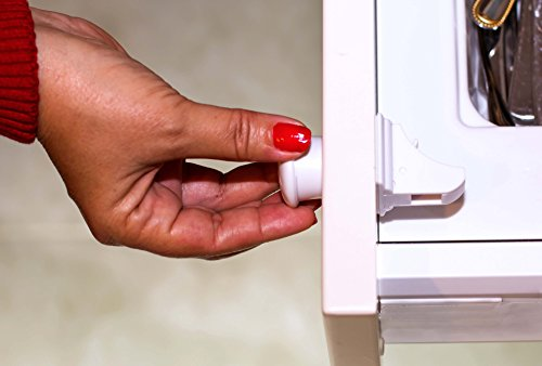 Magnetic Cabinet Locks by Child Protect - Safety 6 Magnetic Locks + 2 Keys to