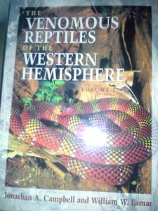 Comstock Books in Herpetology: The Venomous Reptiles of the Western...