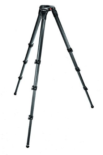 Manfrotto 536 Carbon Fiber 3-Stage Video Tripod with 75/100mm Bowl - Black