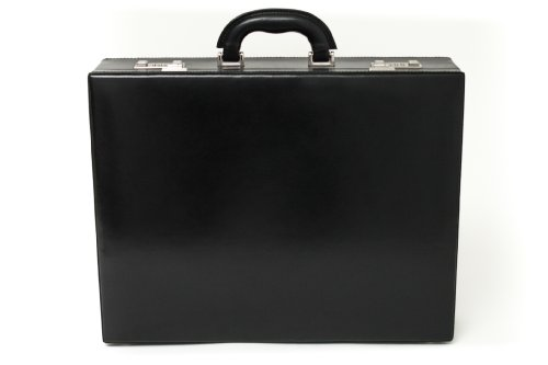 Tony Perotti Mens Italian Bull Leather Amalfi Leather Attache Case with Dual