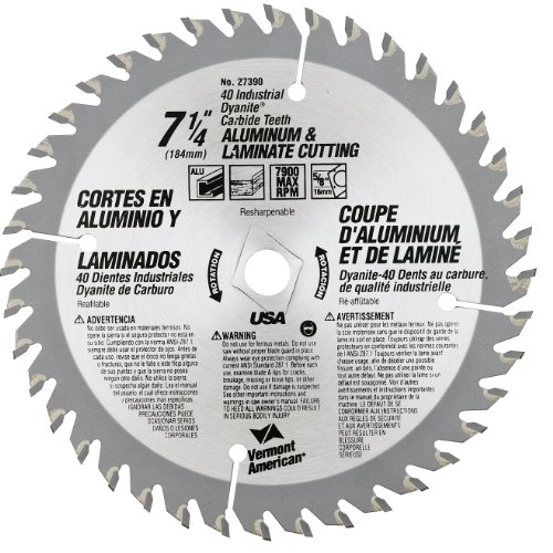 Vermont American 27390 7-1/4-Inch 40T Nonferrous Metal Carbide Circular Saw