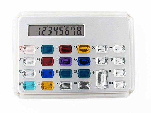 Gemstone Pocket Calculator in Silver