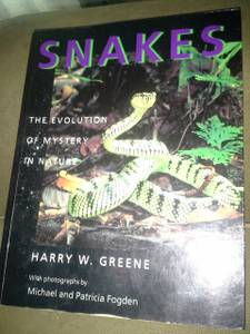 Snakes : The Evolution of Mystery in Nature by Harry W. Greene (2000