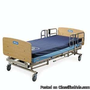 Electric bariatric hospital bed