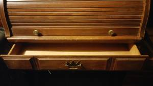 Antique wood roll top desk