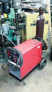 Lincoln Mig Welder - Wirematic 255, 1-phase/240v Wire Feed solid/flux (Dallas -