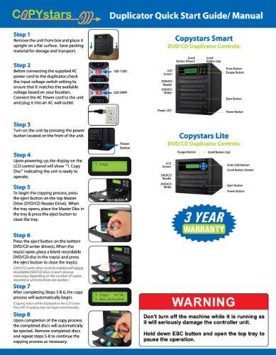 Copystars DVD Duplicator 24X CD DVD Burner 1 to 1 Copier Sata Dual Layer Burner