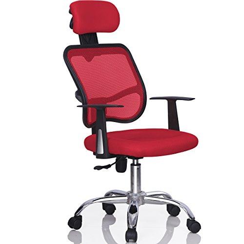 Gotobuy Mesh Computer Office Chair Desk Highback Task (Red)