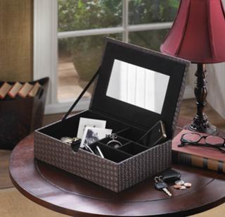 Faux Leather Keepsake Box