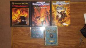 Advanced Dungeons and Dragons v2 book set