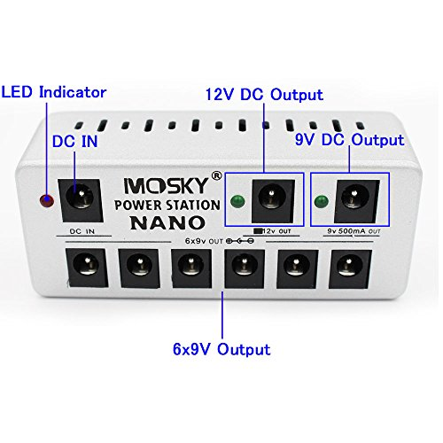 Mosky Guitar Effects Pedal Power Supply 9V Multi-function Power Adapter with 8