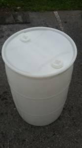 NEW* White 55 Gallon Drum/Rain Barrels (Miami/Broward)