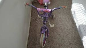 14' kids bike with training wheels
