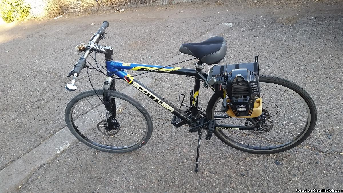 Motorized Scott mountain bike