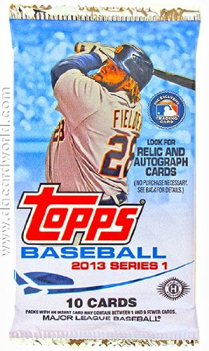 1 Pack containing 10 cards of 2013 Topps Hobby Series 1 Baseball Cards