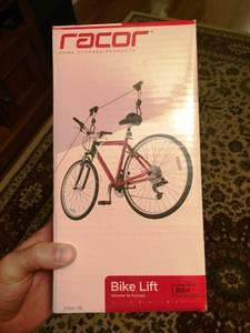 Racor Bicycle Ceiling Mounted Bike Lift, 50 lbs (Cove/Peters Creek)