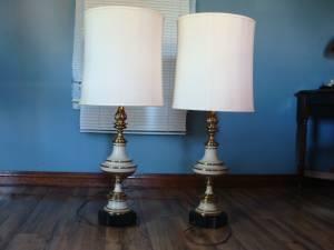 Stiffel Mid Century Regency Table Lamps (parkersburg)