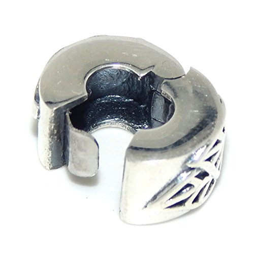Pro Jewelry Solid Sterling Silver .925 Safety Leaves Clip Lock Stopper Beads