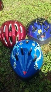 3 youth bicycle helmets (Bassett)