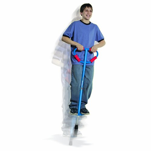 Large Jumparoo Boing! Pogo Stick by Air Kicks (For Riders 90-160 Lbs), BLUE